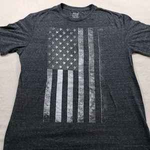 Apt. 9 | Grey Graphic Tee Shirt with Flag